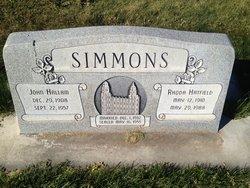 Rhoda <I>Hatfield</I> Simmons