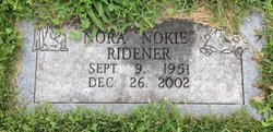 """Nora C """"Nokie"""" Ridener"""