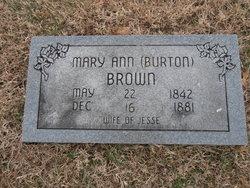Mary Ann <I>Burton</I> Brown