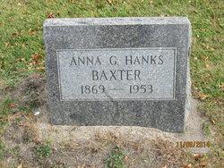 Anna G. <I>Hanks</I> Baxter