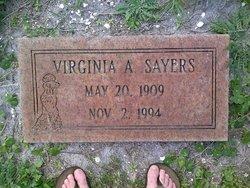 Virginia A Sayers