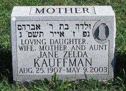Jane Zelda <I>Bellow</I> Kauffman
