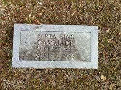 Berta <I>King</I> Cammack