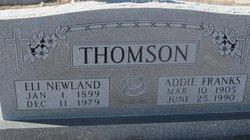 Addie <I>Franks</I> Thomson