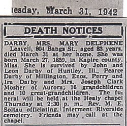 Mary Dalphene <I>Leavell</I> Darby