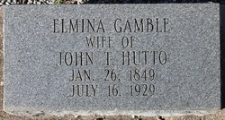 "Elmina Louise ""Babe"" <I>Gamble</I> Hutto"