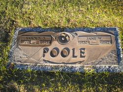 Jane W Poole