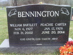 Peachie Mae <I>Carter</I> Bennington