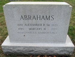 Alexander R Abrahams Sr.