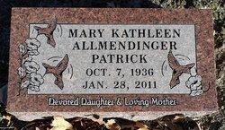 Mary Kathleen Kathy <I>Allmendinger</I> Patrick