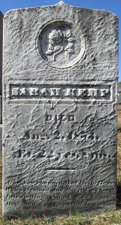 Sarah Kemp 1830 1853 Find A Grave Memorial