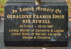Geraldine Francis <I>Atwell</I> Joyce