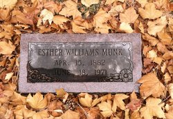 Esther Anna <I>Williams</I> Munk