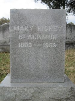 Mary Margaret <I>Richey</I> Blackmon