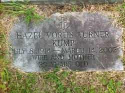 Hazel Vorus <I>Turner</I> Kump