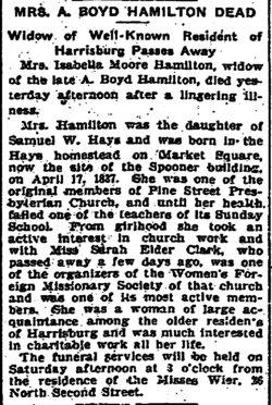 Isabella <I>Hays</I> Hamilton