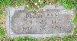 """Rebecca Ann """"Becky"""" Cunningham"""
