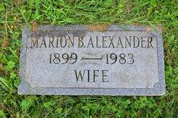 Marion Phyllis <I>Buzza</I> Alexander