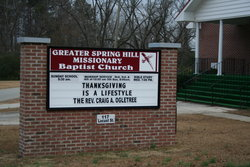 Greater Spring Hill Missionary Baptist Church Ceme