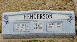 "Paul Irving ""Pete"" Henderson"