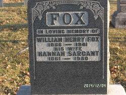 Hannah Elizabeth <I>Sargant</I> Fox