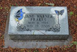 Jane <I>Warner</I> Frakes