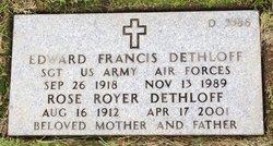 Edward Francis Dethloff