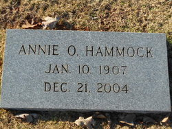Annie O. <I>Hindman</I> Hammock