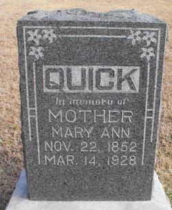 Mary Ann <I>Bloom</I> Quick