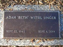 """Adah Elizabeth """"Beth"""" <I>Witsil</I> Unger"""