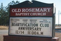 Old Rosemary Baptist Church Cemetery