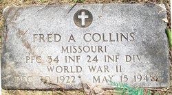 PFC Fred A Collins
