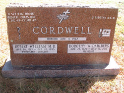 Dr Robert William Cordwell