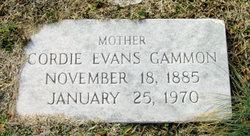 Cordie Sue <I>Evans</I> Gammon