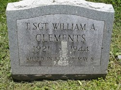 Sgt William A Clements