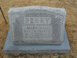 Mary Ann <I>Bowman</I> Berry