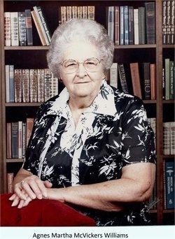 Agnes Martha <I>McVickers</I> Williams