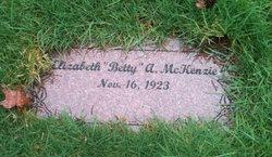 """Elizabeth Ann """"Betty"""" McKenzie"""