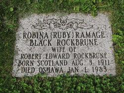 """Robina Ramage """"Ruby"""" <I>Black</I> Rockbrune"""