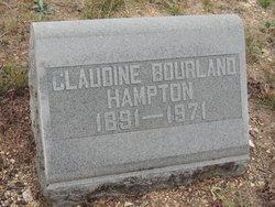 Claudine <I>Bourland</I> Hampton
