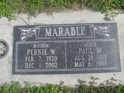 Pernie Willodean <I>Graham</I> Marable