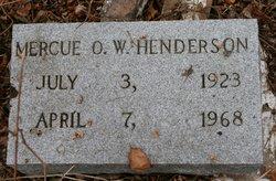 Mercue O. W. Henderson