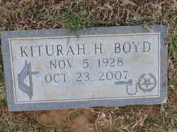 Kiturah <I>Hale</I> Boyd