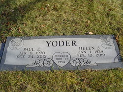 Helen Jeane <I>Buholz</I> Yoder