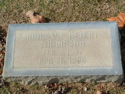 Marilyn <I>Detert</I> Thompson