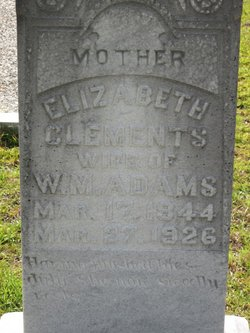Martha Elizabeth <I>Clements</I> Adams