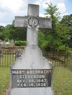 Mary Amelia <I>Abernathy</I> Stevenson