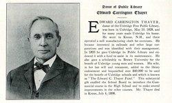 Edward Carrington Thayer