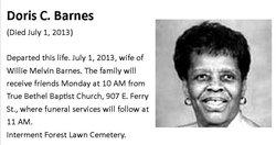 Doris C. <I>Brooks</I> Barnes