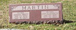 Harry Watt Martin